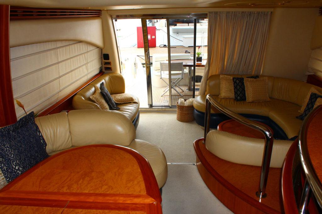 62 Azimut' Yacht Rental Miami Interior