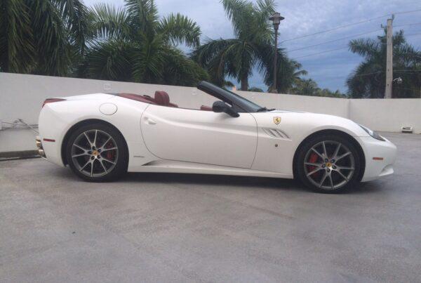Ferrari California-white exotic car rentals