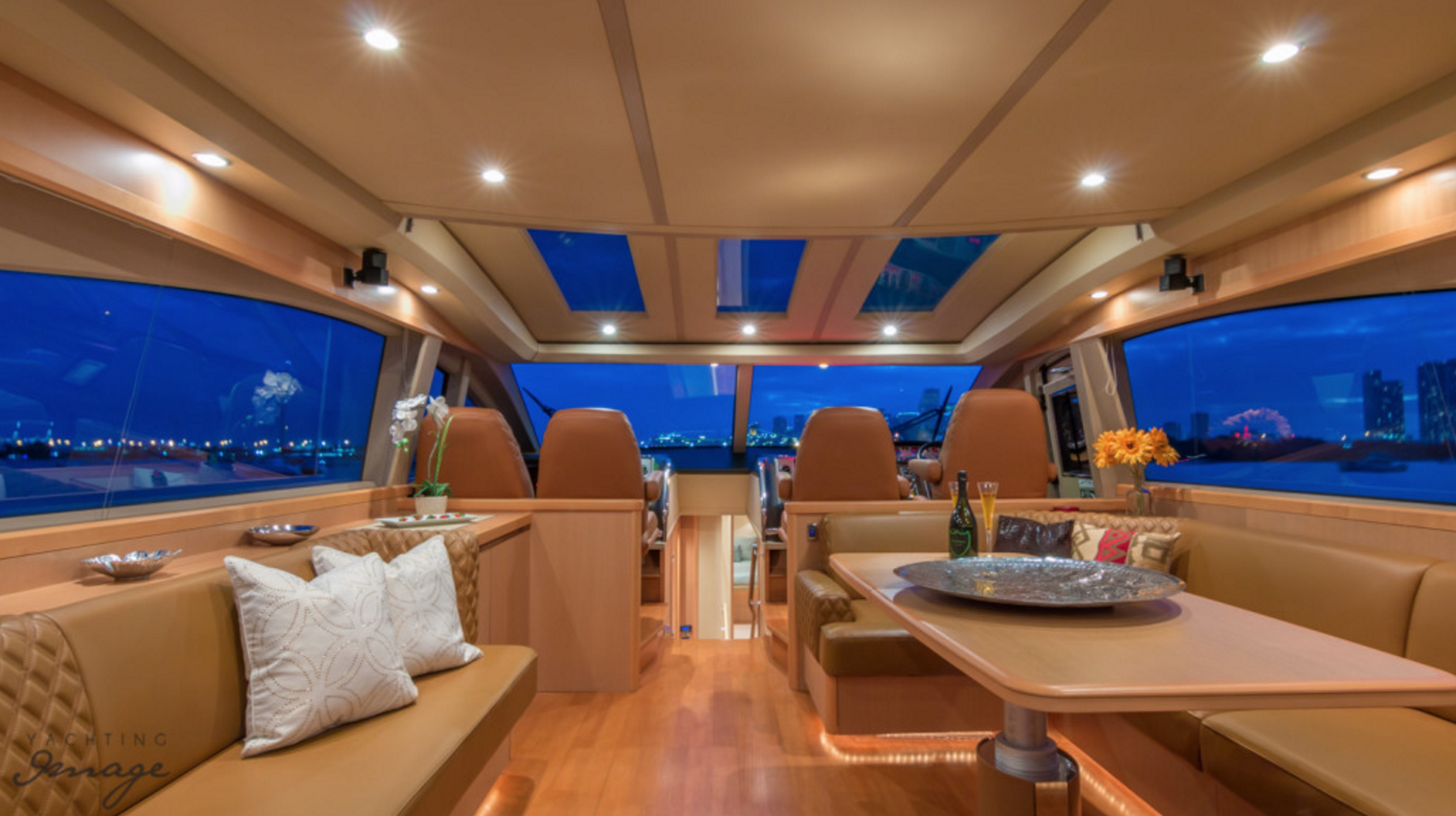70 Princess Luxury Boat Miami Interior
