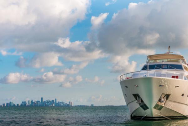 94' Ferreti Luxury Yacht Rental Miami